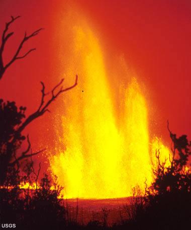 Hawaiian eruption