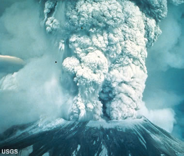 Plinian Eruption at Mount St. Helens