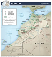 Morocco Physical Map