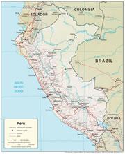 Peru Physical Map