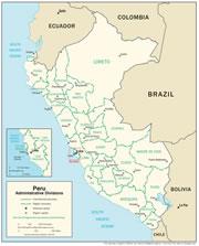 Peru Region Map