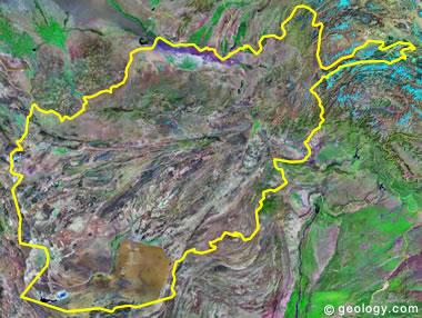 Afghanistan satellite photo