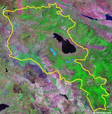 Armenia satellite photo