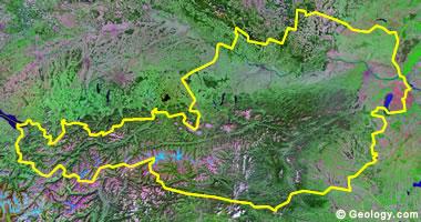 Austria satellite photo