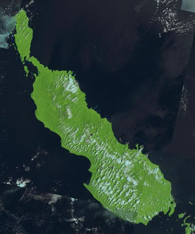 Bougainville satellite photo