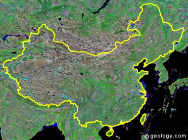China satellite photo