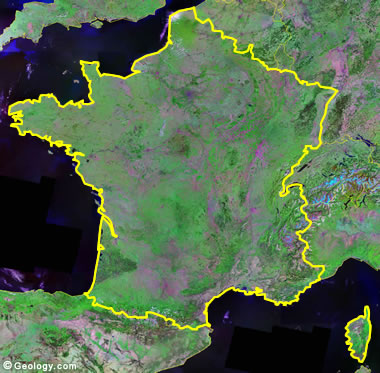 France satellite photo