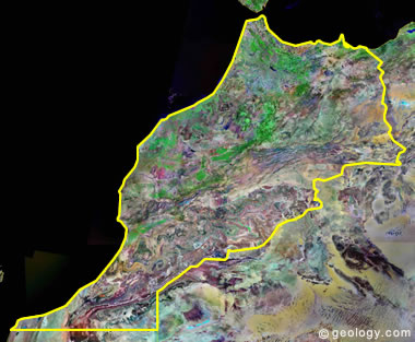 Morocco satellite photo
