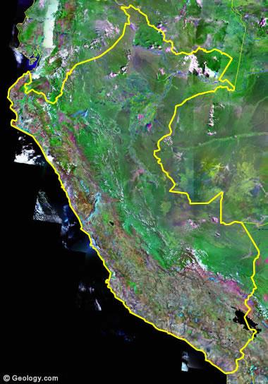 Peru satellite photo