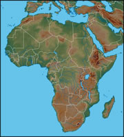 Africa Map Geography.Africa Map And Satellite Image