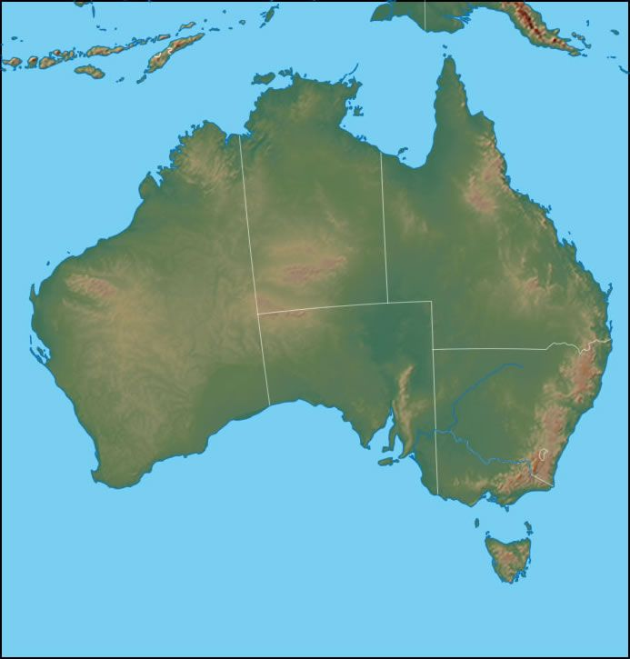 Physical map of australia australia physical map gumiabroncs Gallery