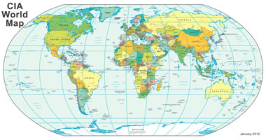Map Of The World Showing All Countries.World Map A Clickable Map Of World Countries