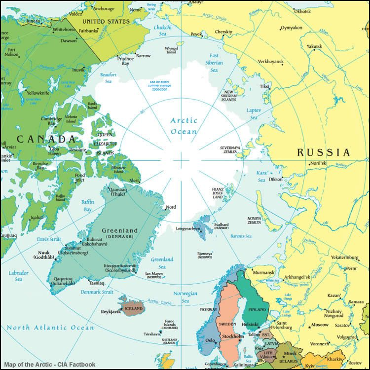 Arctic political map
