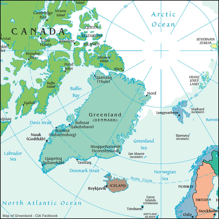 Map Of Canada Greenland And Iceland.Greenland Maps