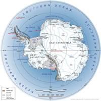 Antarctica map antarctica satellite image antarctica on a world wall map gumiabroncs Images