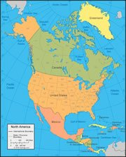 map of the North American Continent
