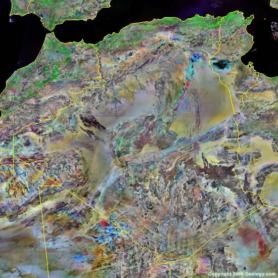 Algeria satellite photo