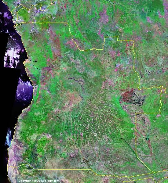 Angola satellite photo