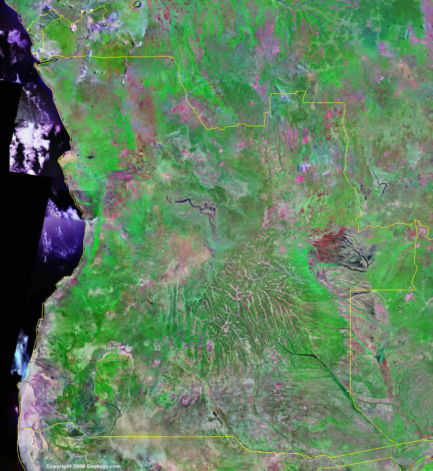 Angola satellite photo