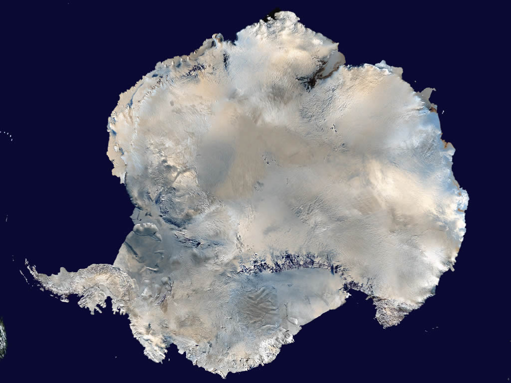 Antarctica satellite photo