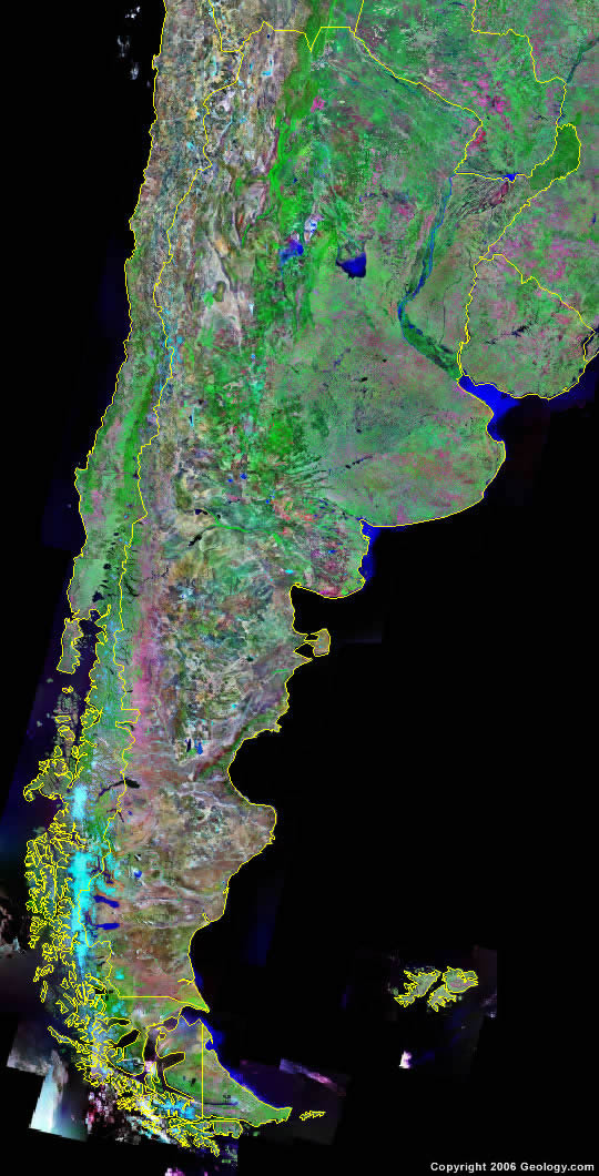 Argentina Map And Satellite Image - Map argentina