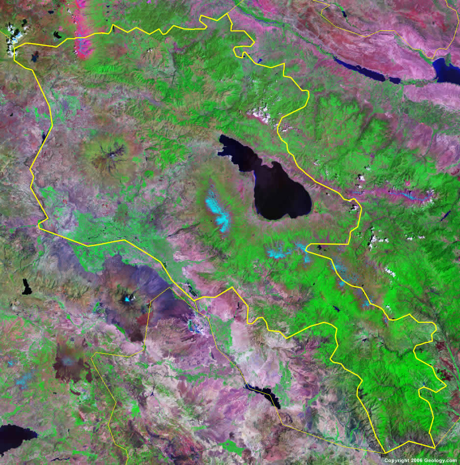 Armenia Map And Satellite Image - Armenia physical map