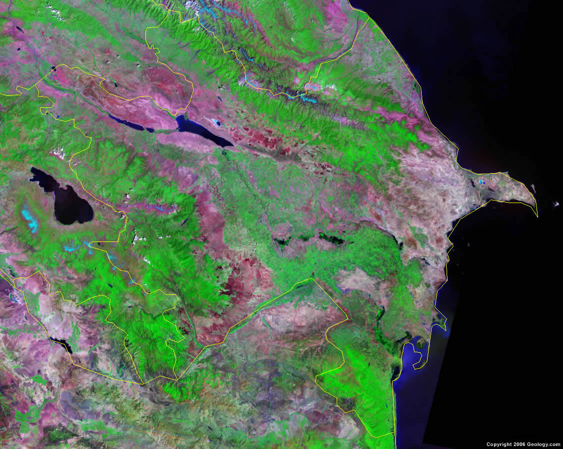 Azerbaijan satellite photo