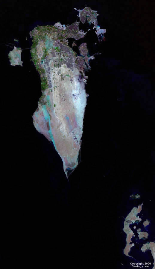 Bahrain map and satellite image bahrain satellite photo gumiabroncs Images
