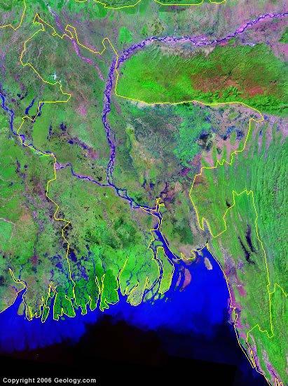 Bangladesh satellite photo