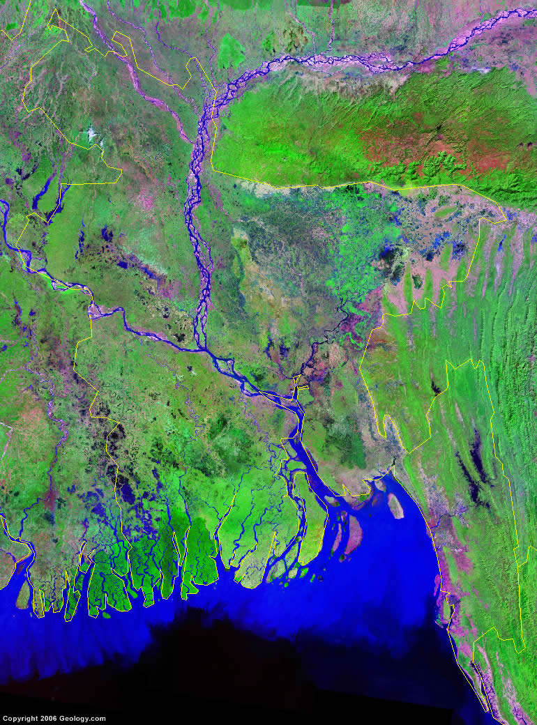 Bangladesh satellite photo