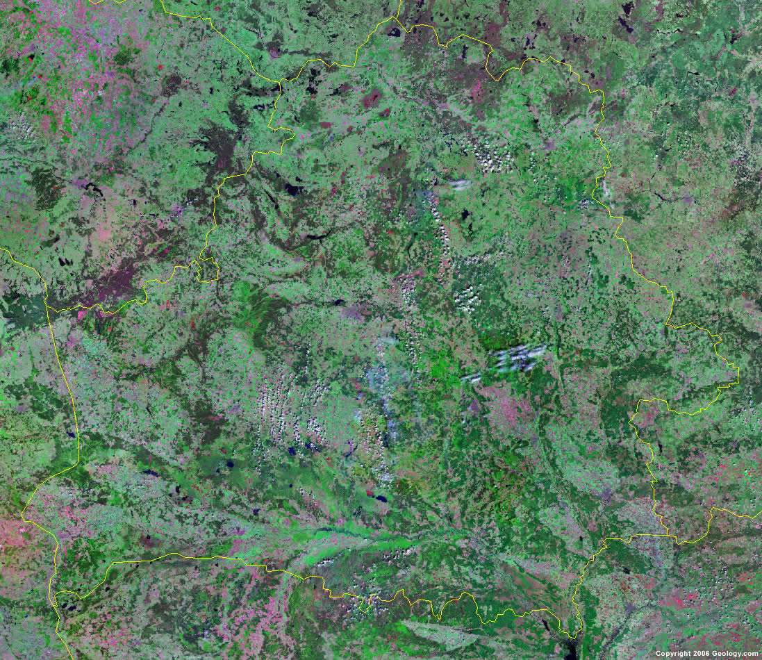 Belarus satellite photo