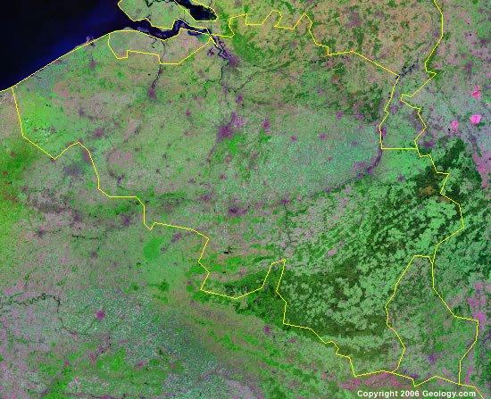 Belgium satellite photo
