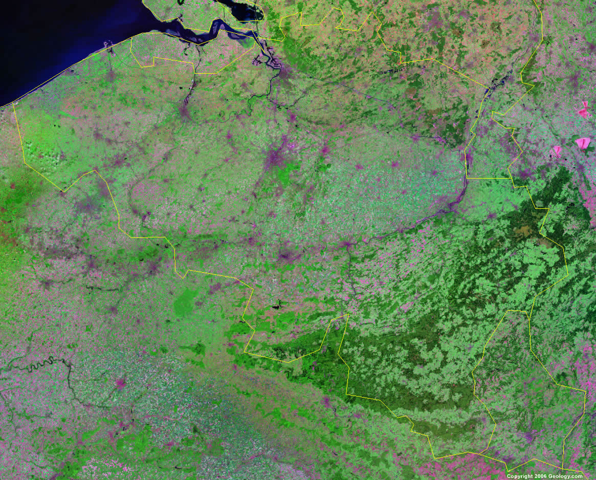 Belgium satellite photo