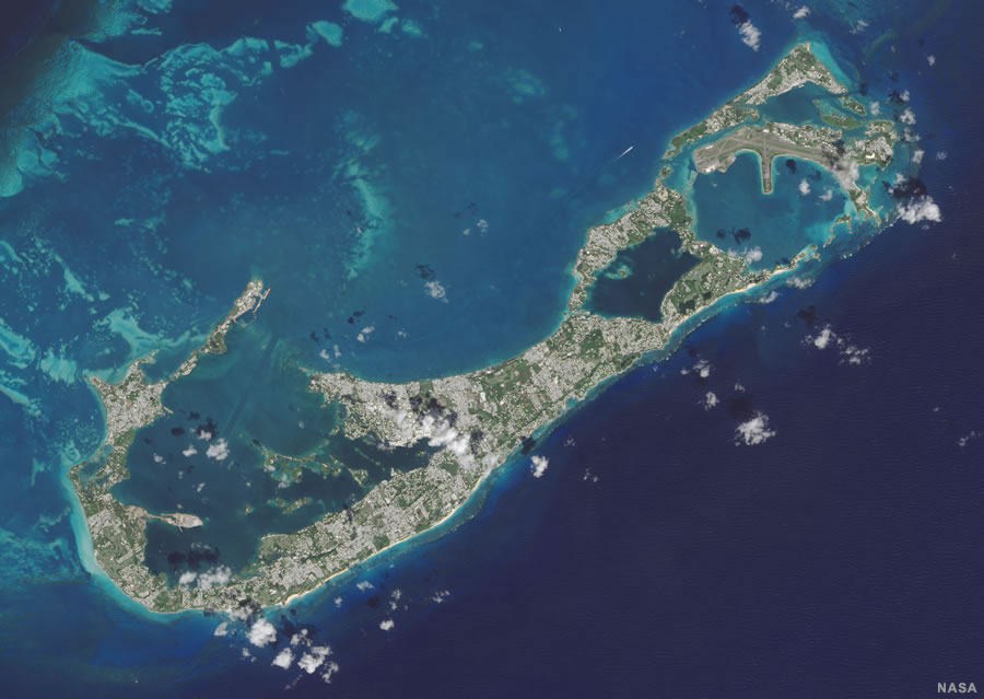 Bermuda Map and Satellite Image