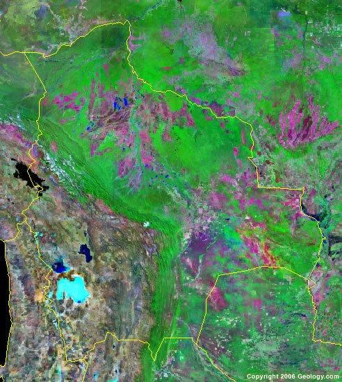 Bolivia satellite photo