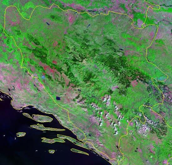 Bosnia and Herzegovina satellite photo