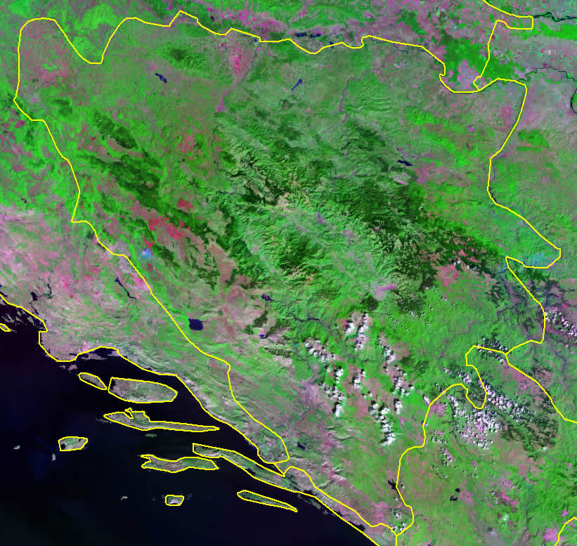 Bosnia and Herzegovina satellite photo