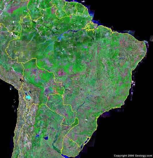 Brazil satellite photo