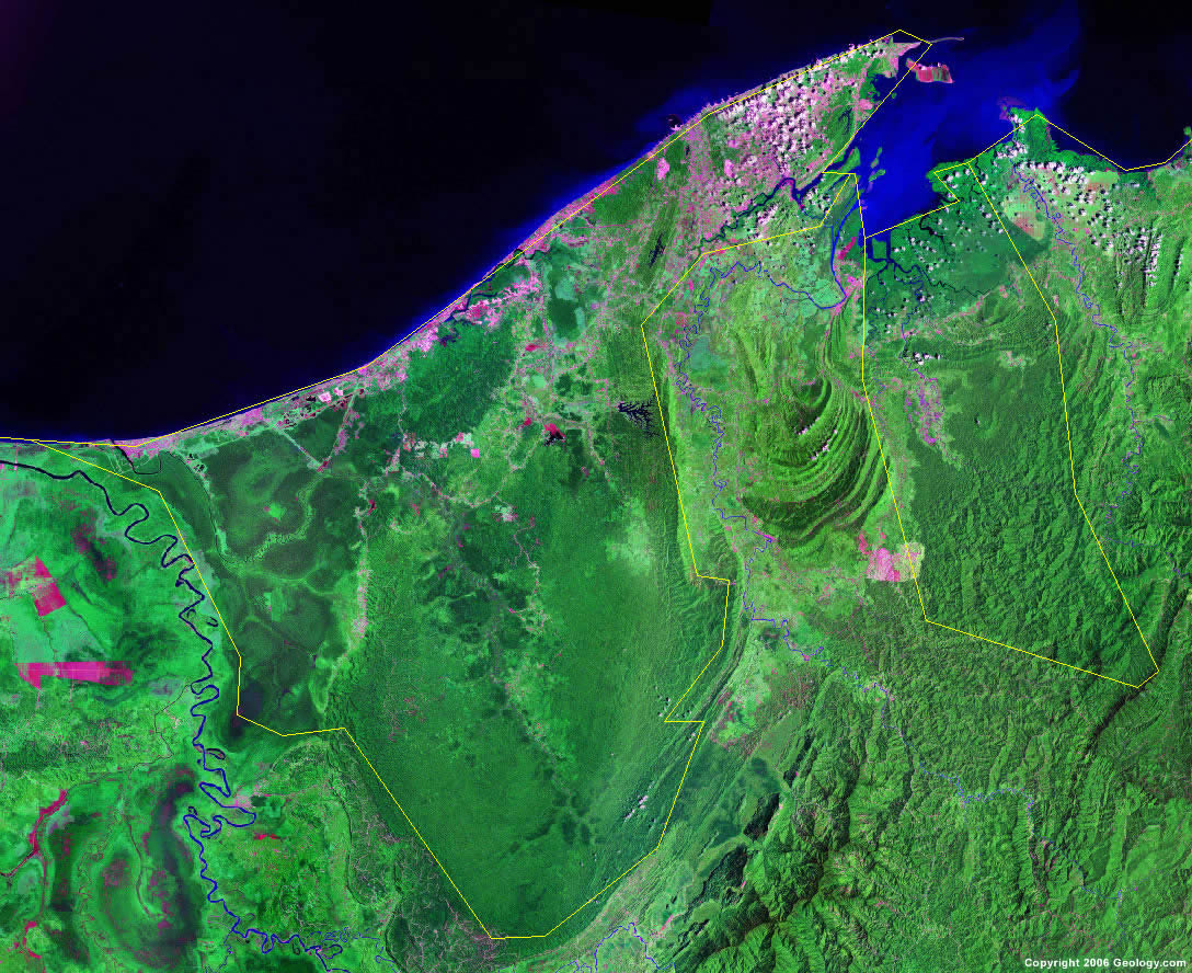Brunei satellite photo