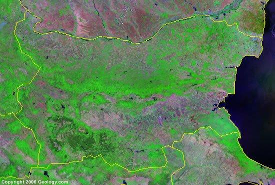 Bulgaria satellite photo