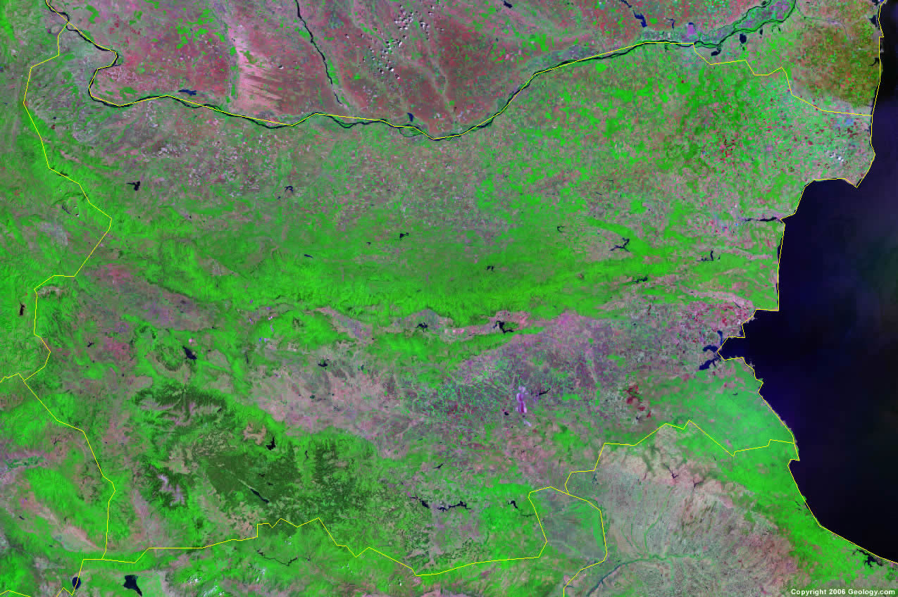 Bulgaria satellite photo