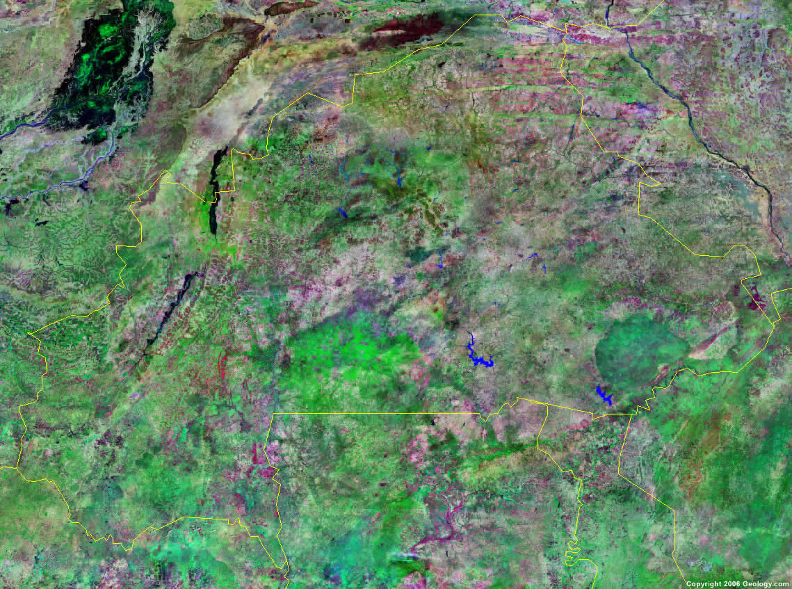 Burkina Faso Map and Satellite Image