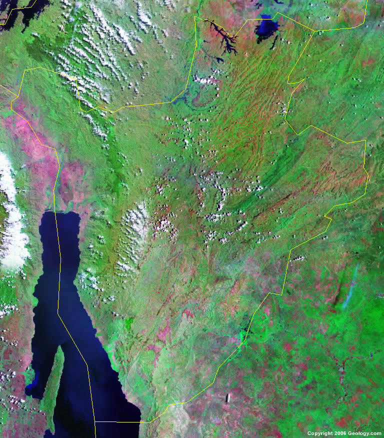 Burundi satellite photo