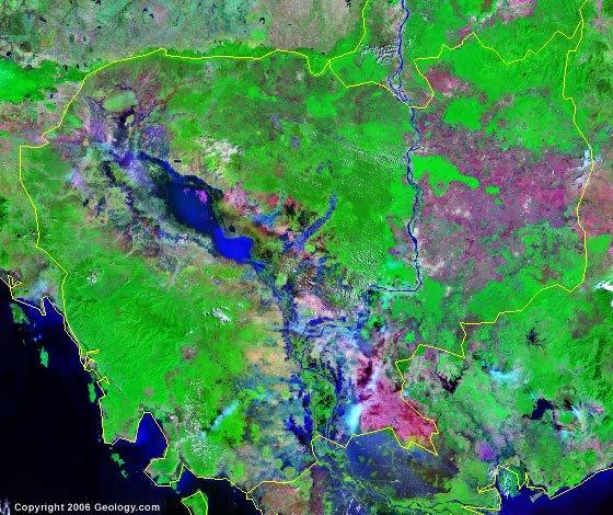 Cambodia satellite photo
