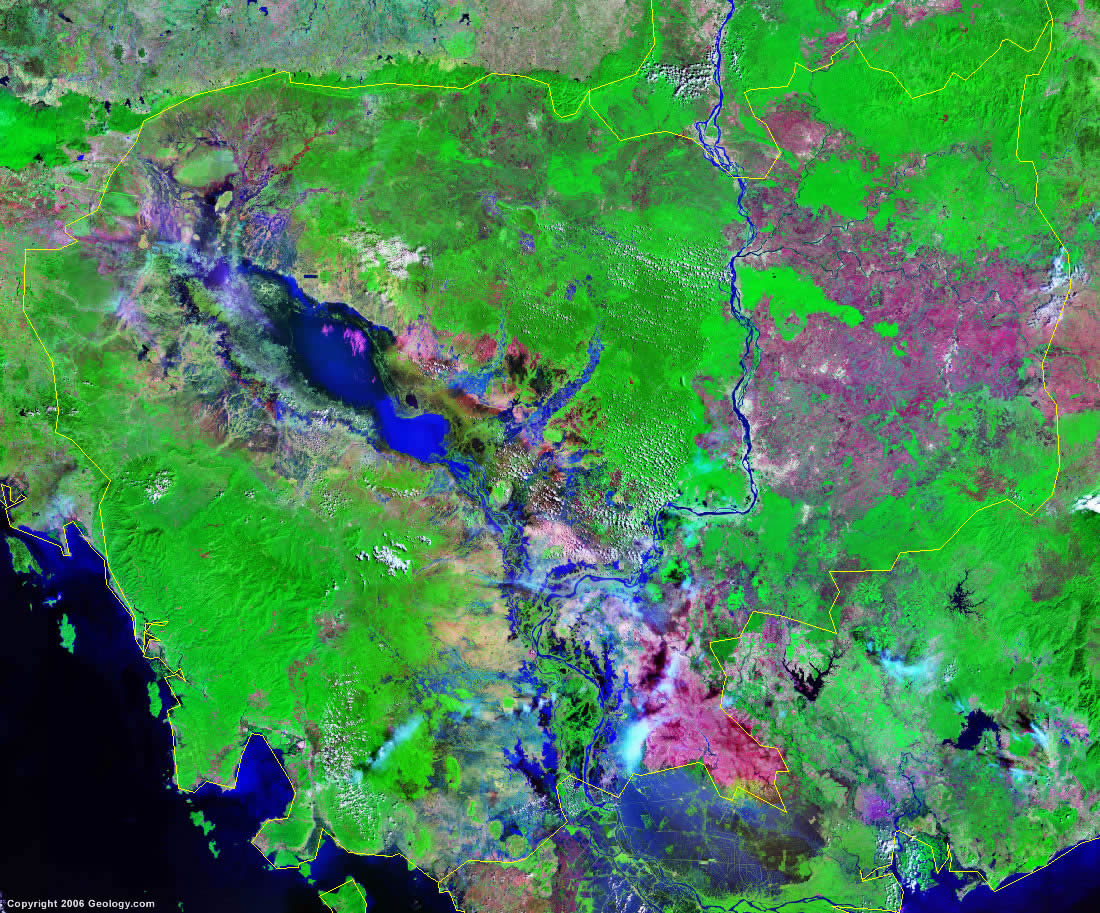 Cambodia satellite photo