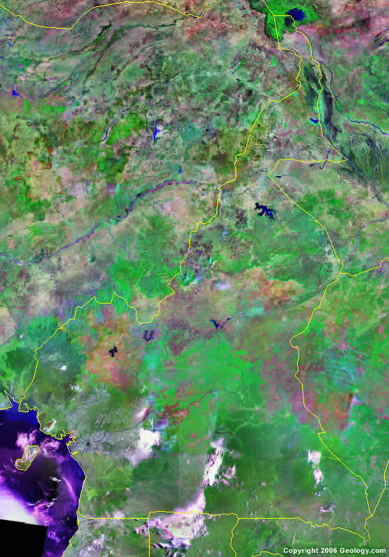 Cameroon satellite photo