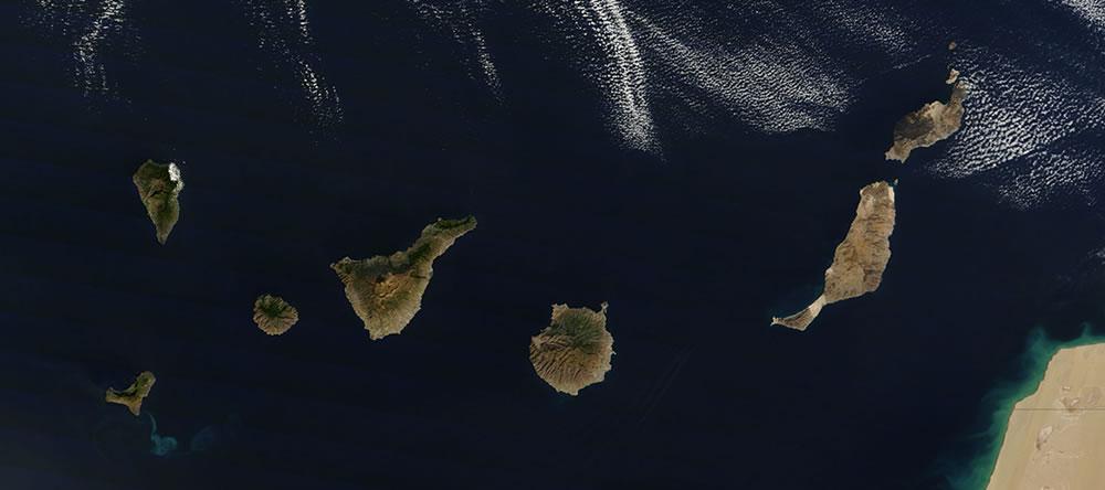 Canary Islands satellite photo