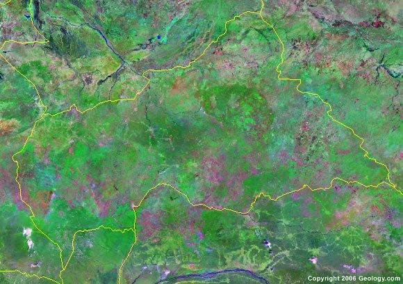 Central African Republic satellite photo