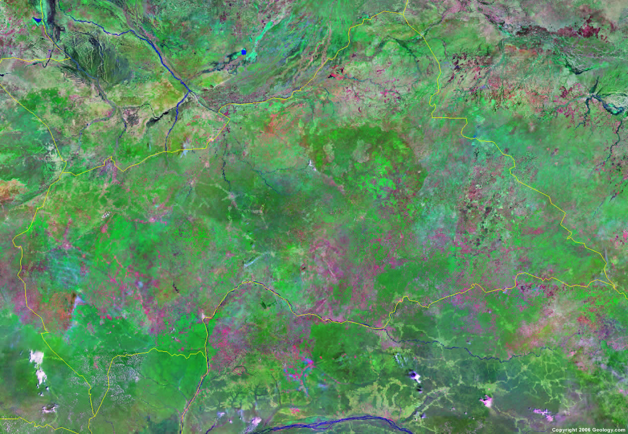 Central African Republic satellite photo