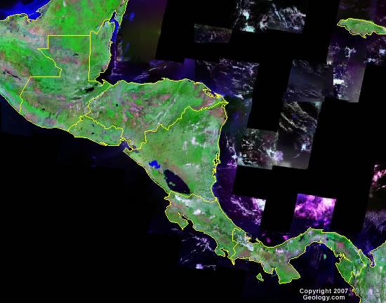 Central America satellite photo